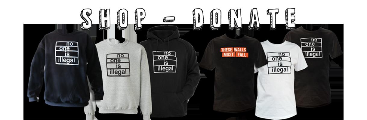 shop, donate