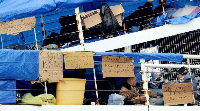 Syrian refugees Calais