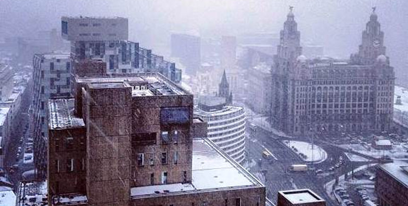 snowy Liverpool