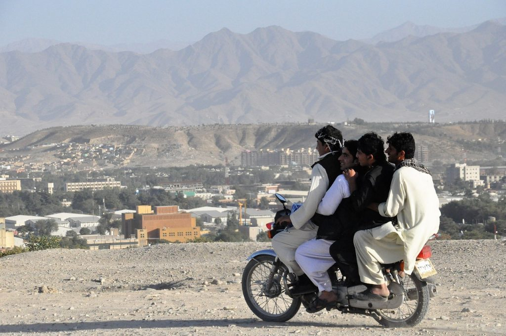 moped passengers in Afghanistan