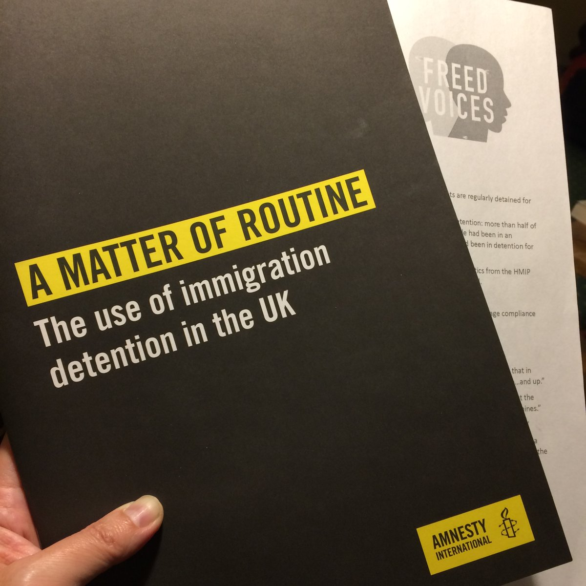 Launch Of New Amnesty Report On Immigration Detention