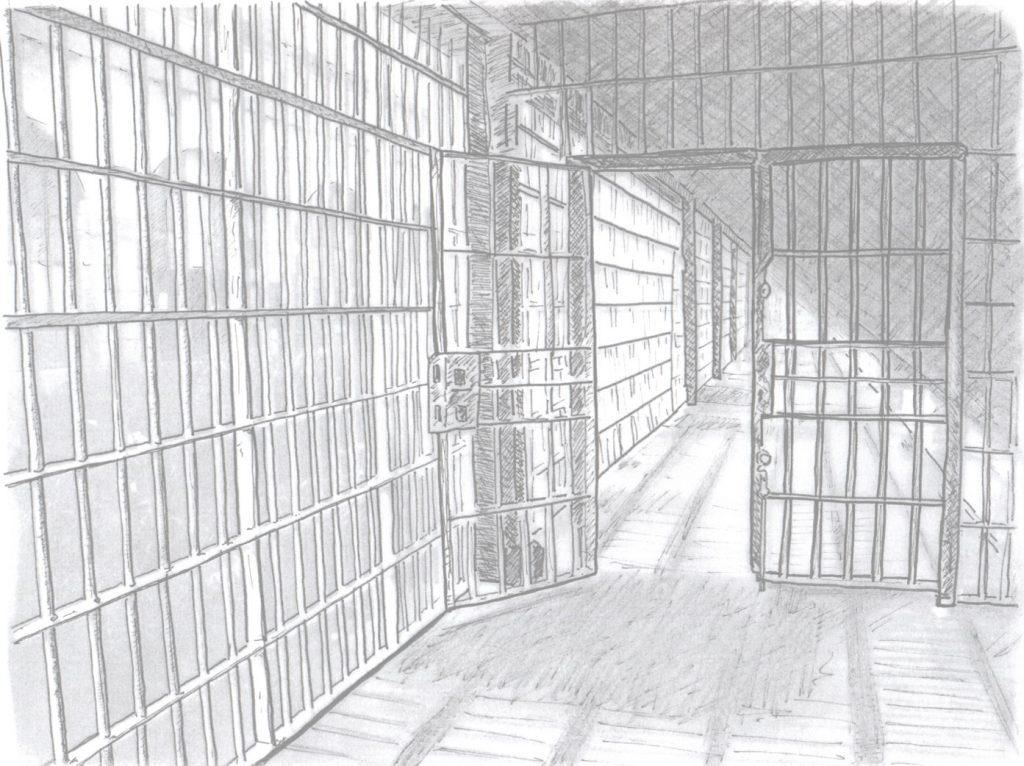 Detention centre walkway