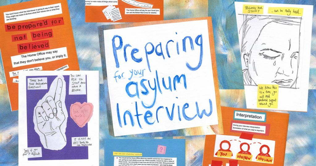 preparing for asylum interview - collage