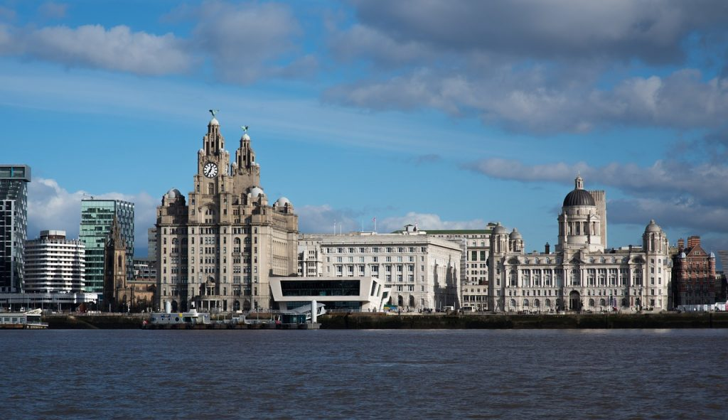 View of Liverpool from across the Mersey